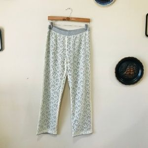 Anthro Bordeaux Light Weight Pants with Lace